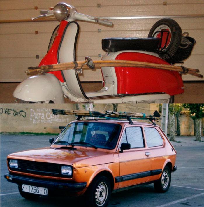 Foto de los inicios de Gotor Limpiezas, primeros vehículos de empresa (primera generación).