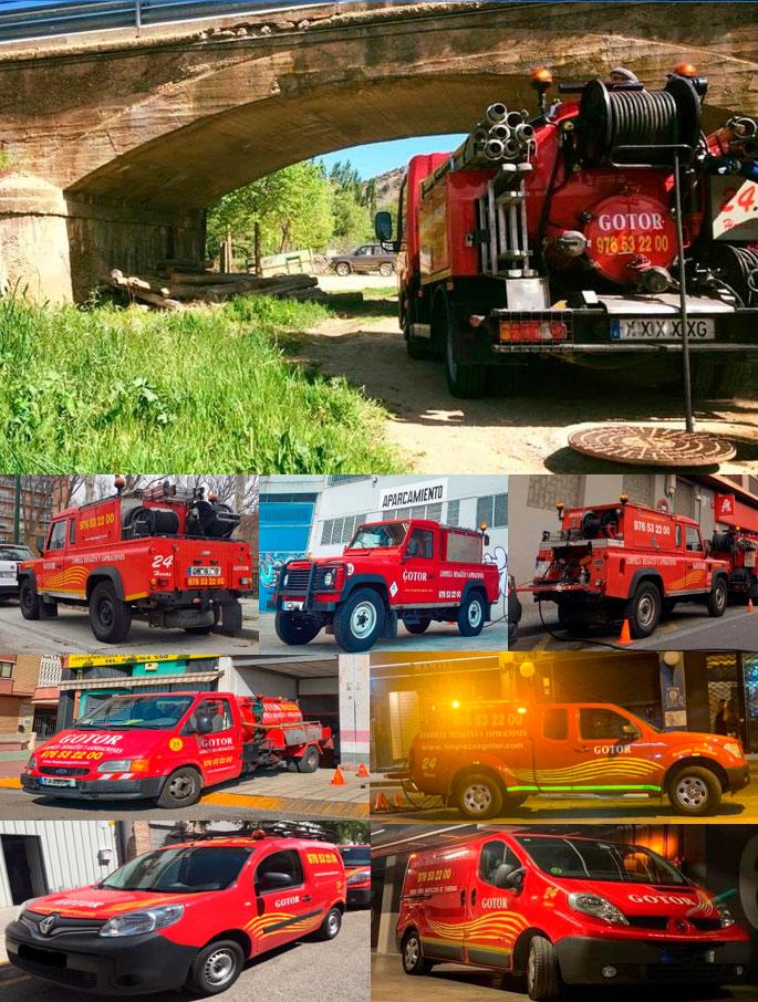 Foto actual flota de vehículos de Gotor Limpiezas.